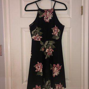 Nordstrom Halter Neck Floral Dress